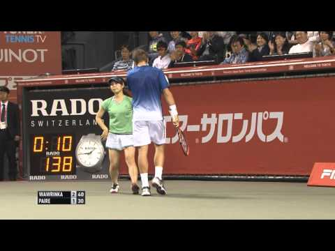 Wawrinka Devastating Backhand Display Tokyo 2015 Hot Shot