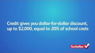 What is the Lifetime Learning Tax Credit? - TurboTax Tax Tip Video