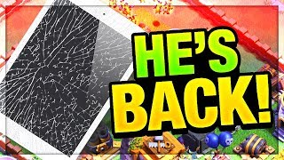 iPad BREAKS - Peter17$ RETURNS - and LOSES IT! Clash of Clans Update