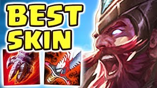 NEW LEGENDARY SKT T1 OLAF JUNGLE SPOTLIGHT | BEST SKIN EVER | BROKEN MAX RED BUILD!! - Nightblue3