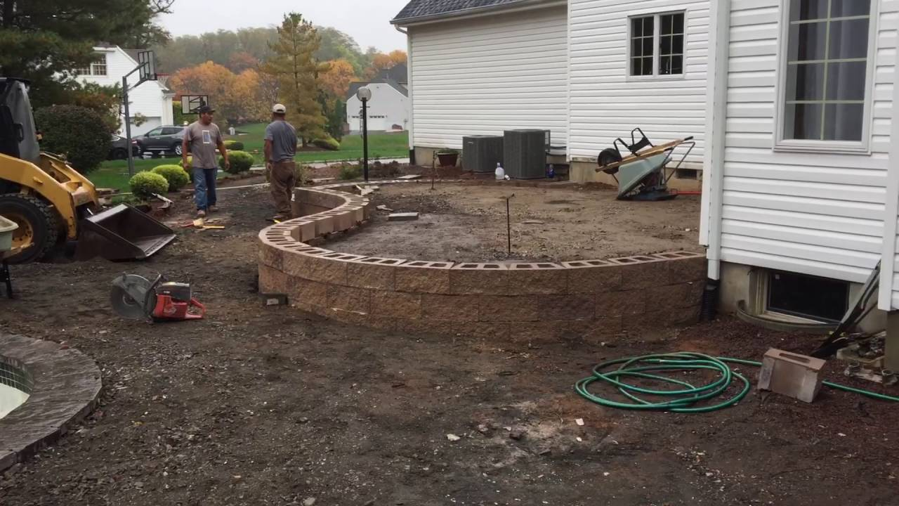 building a raised paver patio youtube. Black Bedroom Furniture Sets. Home Design Ideas