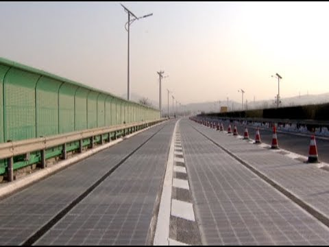 World's 1st Solar-powered  Expressway in China to Recharge Electric Cars