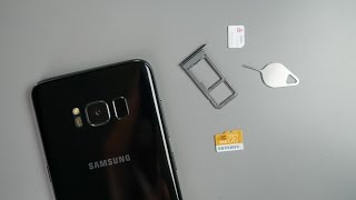 Inserting SIM and SD Card in Galaxy S8 / S8+