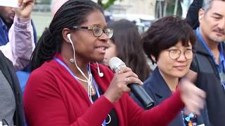 American and Korean Workers Call for Peace in Korea