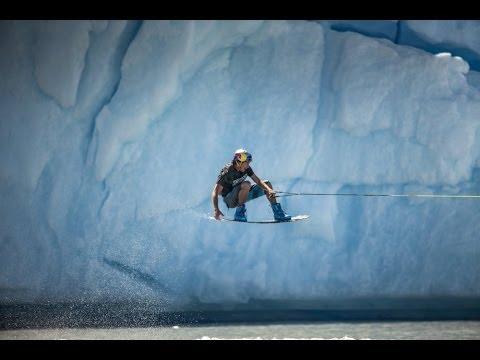Iceberg wakeboarding in Patagonia