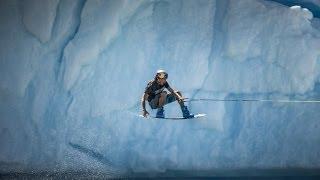 Iceberg wakeboarding in Patagonia thumbnail