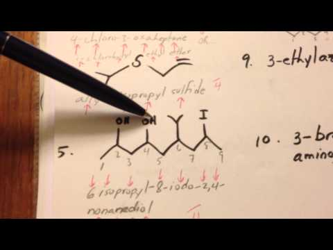 Nomenclature: Quiz On Alcohols, Thiols, Amines, Ethers