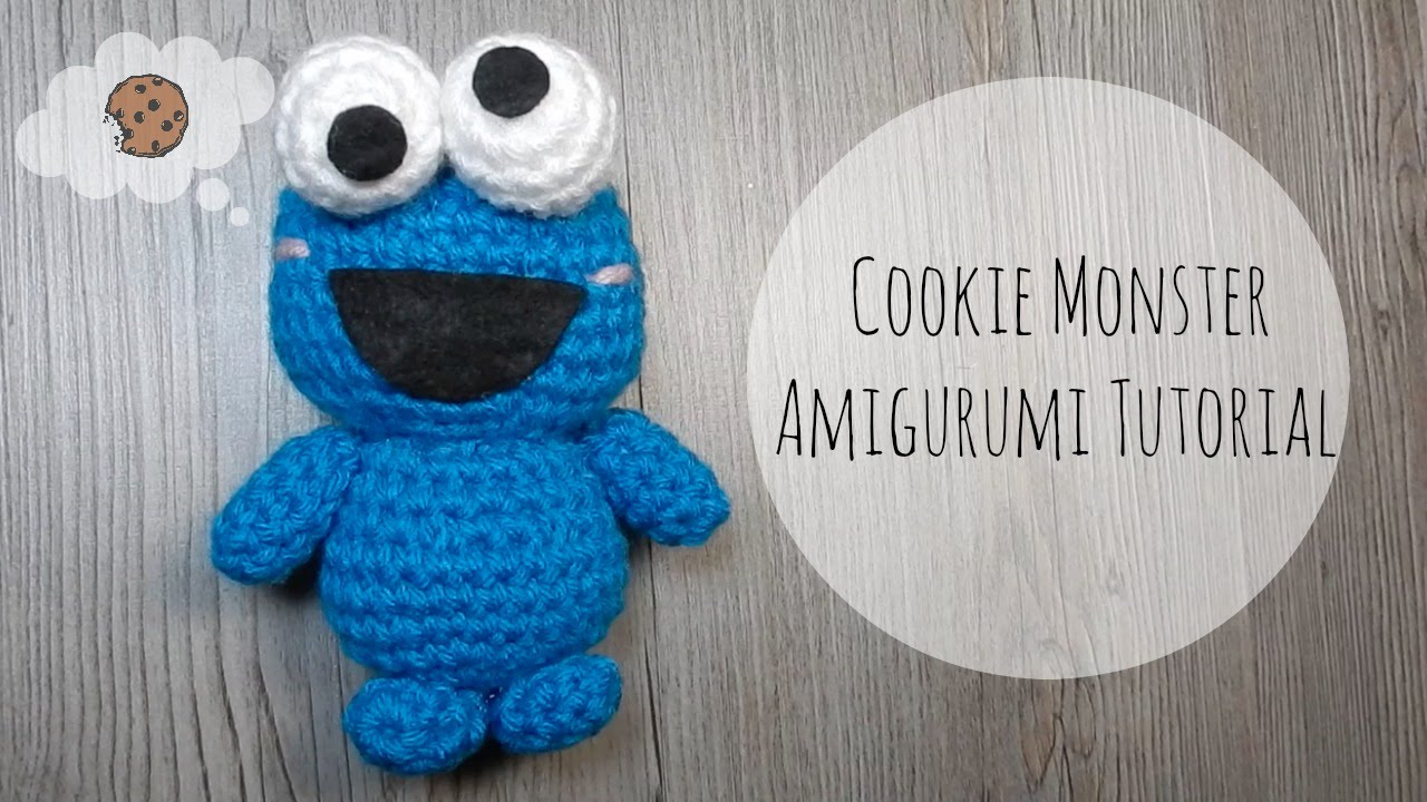 Amigurumi Olaf Tutorial : Amigurumi cookie monster tutorial youtube