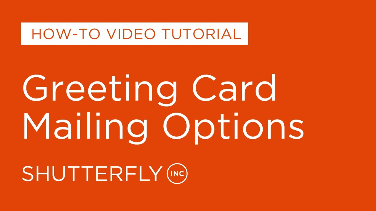 Greeting card mailing options youtube m4hsunfo