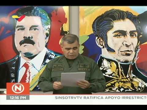 Comunicado de Vladimir Padrino López luego de que el gobierno de EEUU pidiera recompensa por él
