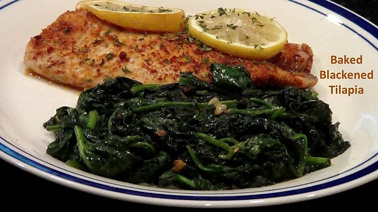 How to make oven baked blackened tilapia youtube for How to bake tilapia fish in the oven