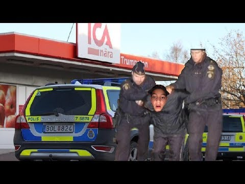 Snattare prank på Ica i Stockholm åker fast(polisen kom)