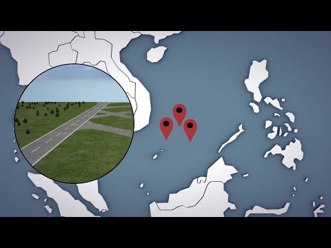 China builds military infrastructures on large outposts in South China Sea
