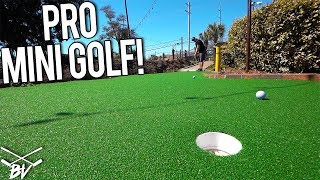 THE HARDEST PRO MINI GOLF COURSE IN THE WORLD! - LUCKY MINI GOLF HOLE IN ONE AND MORE!