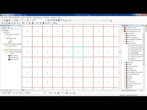 ArcGis creating polygon grid Create Fishnet