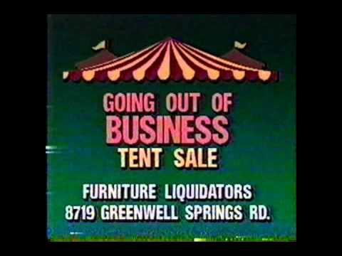 Furniture Liquidators Closing Ad 1991 (Baton Rouge)