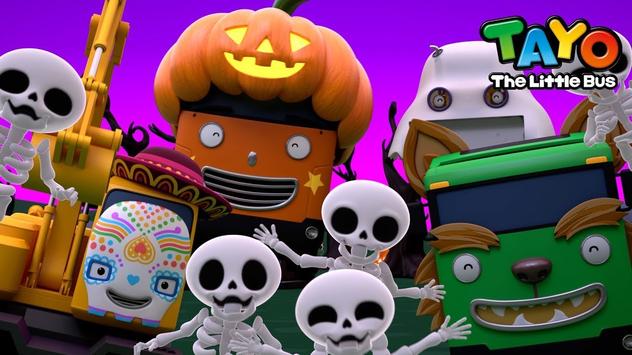 Chumbala Cachumbala l Heavy Vehicles Halloween Song l Tayo Halloween Songs + More