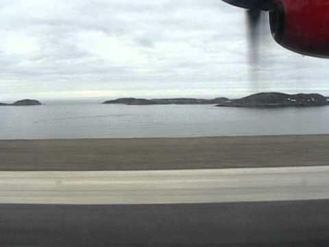 Air Greenland Dash-7 Take-off At Maniitsoq
