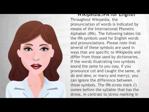 Wikipedia:IPA for English - Wiki Videos