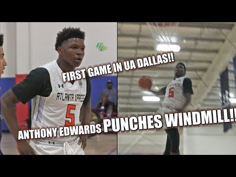 Anthony Edwards PUNCHES WINDMILL!! First Game In UA DALLAS!!