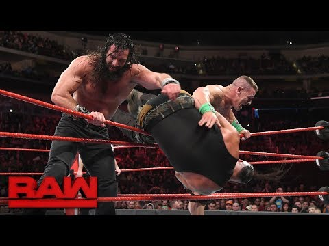 John Cena vs. Braun Strowman vs. Elias  Winner Enters Elimination Chamber Last: Raw, Feb. 5, 2018