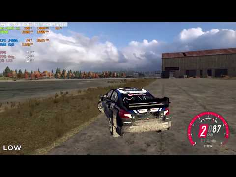 AMD Ryzen 5 3400G Dirt Rally 2.0 Full HD Gameplay All Preset Graphics Low To Ultra |