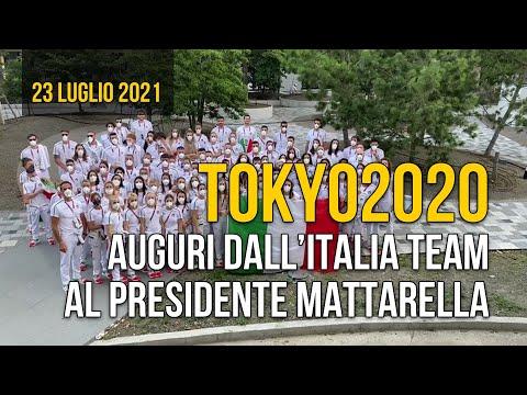 Da Tokyo gli auguri dell'Italia Team per il Presidente Mattarella