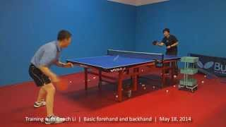 Training with Coach Li: The forehand snap