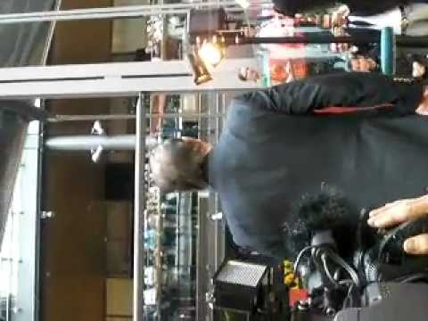 Roger Moore passing the camera in a finnish mall 3.5.2009