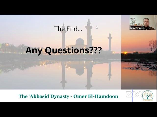 History of the Islamic Era - Part 5 Abbasid Dynasty (continued) - Friday Halaqah Hounslow