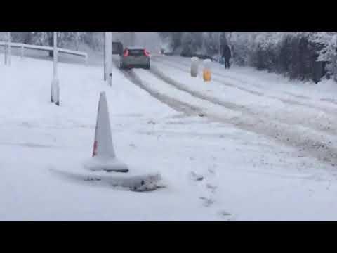 Driving car snow