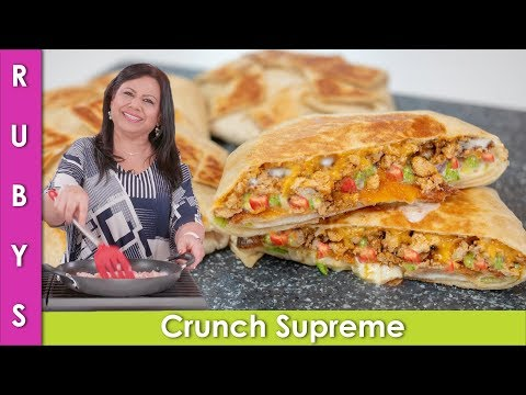 Keemay Wala Crunchy Wrap Taco Bell Wala Recipe in Urdu Hindi  - RKK