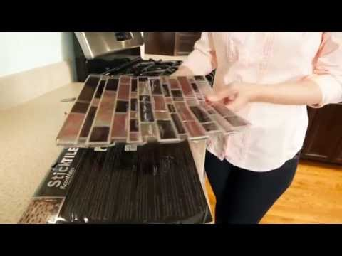 How To Install StickTILE Peel & Stick Backsplashes In 5 Minutes