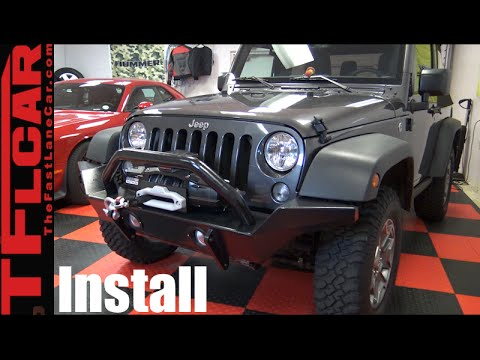 How to Install new Bumpers & Winch on a Jeep Wrangler - DiffLock Ep 13