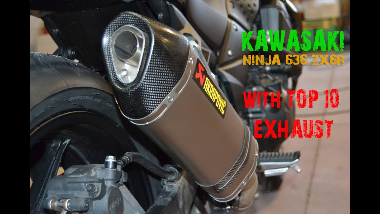 the best 10 exhaust sound kawasaki zx6r two brothers akrapovic m4 arrow racefit sc project