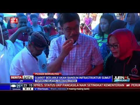 Djarot Saiful Hidayat Blusukan Ke Pasar Batang Toru