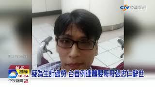 """慟! 亞洲首例分割成功連體嬰 """"哥哥張忠仁過世""""│中視新聞 20190201"""