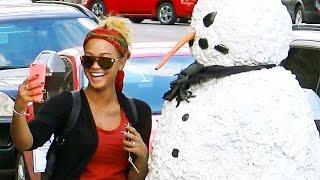 Scary Snowman Hidden Camera Practical Joke Columbus Ohio (2016) Episode 2