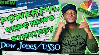 POWERFUL US30 NEWS STRATEGY USING CNBC APP - TRADE DOW JONES/US30 LIKE A PRO