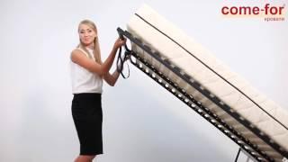 видео двуспальные кровати 160х200 с матрасом