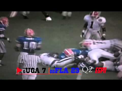 1992 #22 Florida Gators vs. #6 Georgia Bulldogs