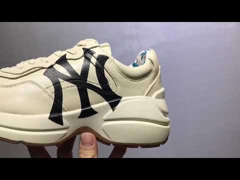 9b9d79c3571 Gucci Rhyton Vintage Trainer Sneaker - YouTube