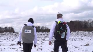 Drone racing i nedlagt gartneri