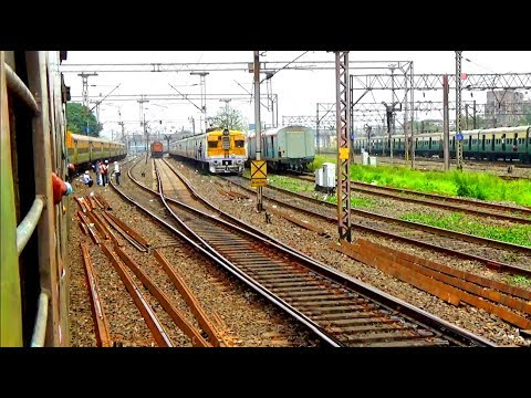 Non stop & High speedy Duronto Express Train's route / within 27 minute 27 Train Crossing