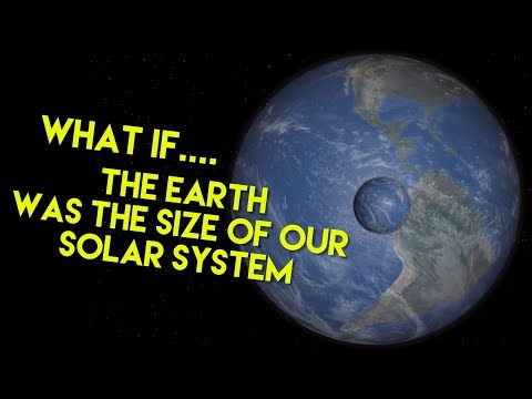 What if.... The Earth was the size of our solar system