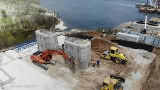 Строительство моста через Волгу правый берег май 2021 г с Климовка Шигонский р он Russia