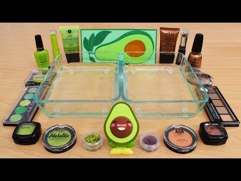 Avocado - Mixing Makeup Eyeshadow Into Slime! Special Series 148 Satisfying Slime Video