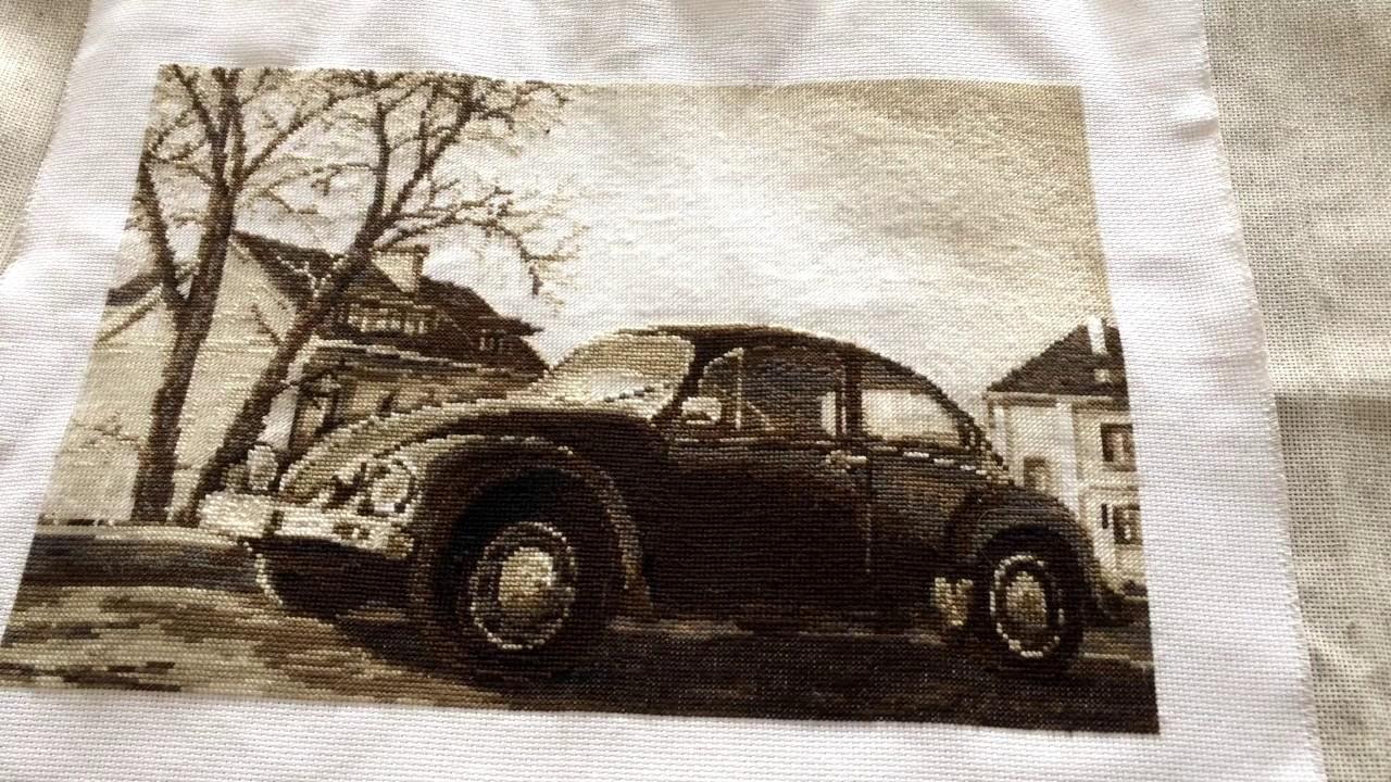 Вышивка старая фотография.жук