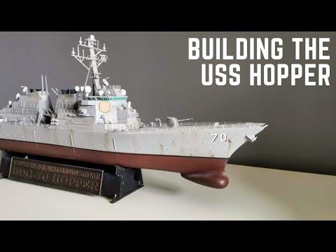 USS Hopper DDG-70 1/350 Arleigh Burke Class Destroyer