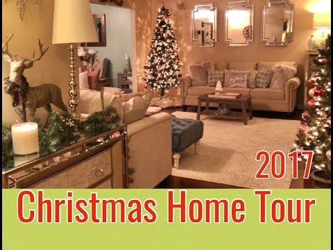 2017 Christmas Home Tour   Glam Holiday Decor   The Green Notebook